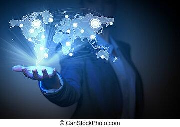 negócio global, rede