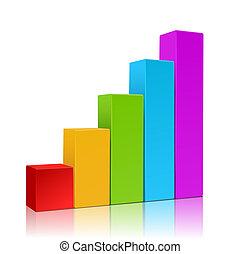 negócio, gráfico, vetorial, crescimento, progresso