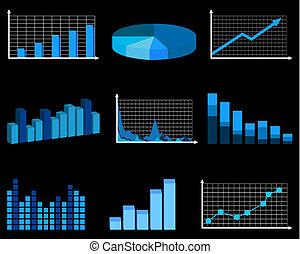 negócio, gráficos