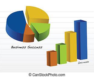 negócio, gráficos, /, vetorial