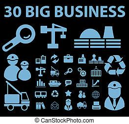 negócio grande, sinais