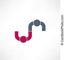 negócio, icon., handshake., transaction.