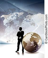 negócio incorporado, flyer/postar