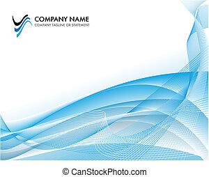 negócio incorporado, modelo, fundo, -, luminoso azul,...