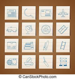 negócio indústria, ícones