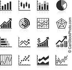 negócio, infographic, icons.