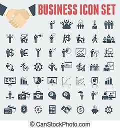 negócio, infographic, template.