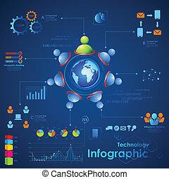 negócio, infographics