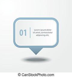 negócio, infographics, projete elemento, mensagem, caixa, para, apresentação