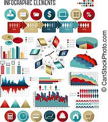 negócio, infographics, template., vector.