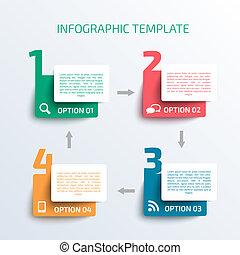 negócio, infographics, template.