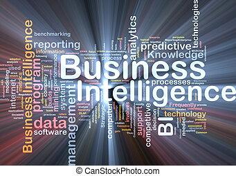 negócio, inteligência, fundo, conceito, glowing