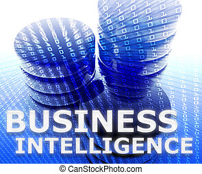 negócio, inteligência, ilustração
