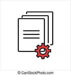 negócio, internet, documento, illustration., ícone, vetorial, concept., botão