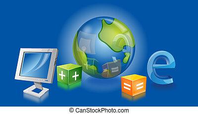 negócio internet, ilustração