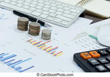 negócio, investimento, relatório