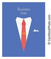 negócio, líder, conceito, ilustração