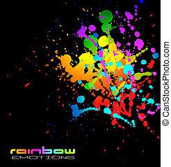 negócio, líquido, abstratos, fundo, voadores, coloridos