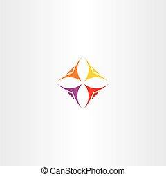 negócio, logotipo, ícone, vetorial, pessoas, equipe, ilustração