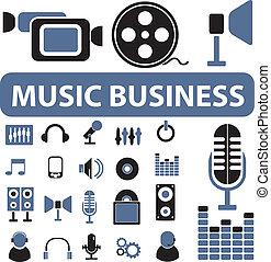 negócio música, sinais