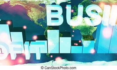 negócio, mapa mundial, volta