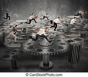 negócio, mecanismo, sistema