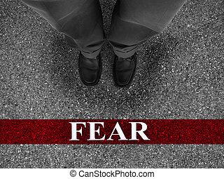 negócio, medo