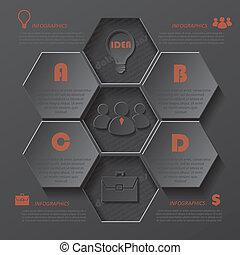 negócio, modernos, desenho, modelo, infographics, seu