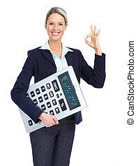 negócio mulher, contabilista