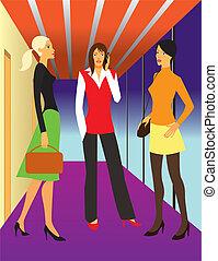 negócio mulher, escritório