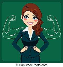 negócio mulher, forte