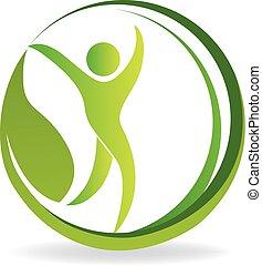 negócio, natureza, saúde, identidade, logotipo, cartão