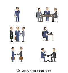 negócio, negociações