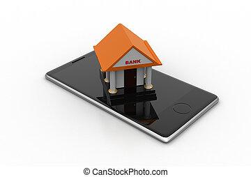 negócio online bancário, conceito