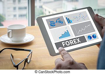 negócio online bancário, estoque, forex, mercado, finanças