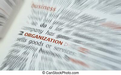 negócio, organização