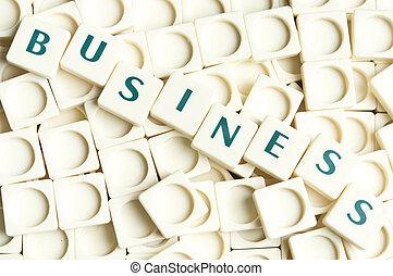 negócio, palavra, feito, por, leter, pedaços