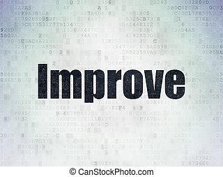 negócio, papel, fundo, digital, dados, concept:, melhorar