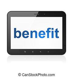 negócio, pc tabela, benefício, computador, concept: