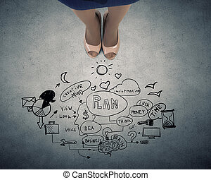 negócio, plan., conceito, imagem