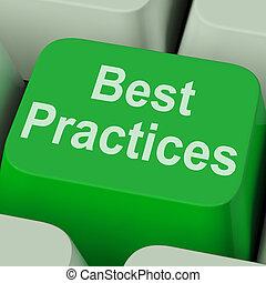negócio, práticas, tecla, melhorar, qualidade, melhor,...
