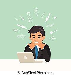 negócio, problema, conceito, ilustração