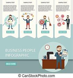 negócio, processo, infographics., brainstorm, idéia grande, consultar, sociedade, contract., apartamento, style.