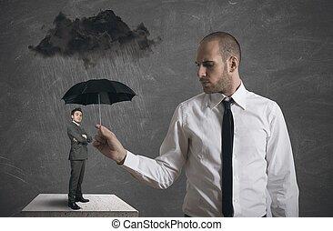negócio, proteção