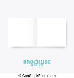 negócio, publicar, presentation., modelo, folheto, trifold