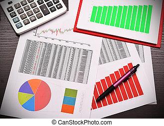negócio, relatório anual