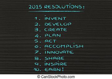 negócio, resolutions, para, 2015