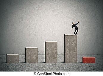 negócio, risco, com, crise