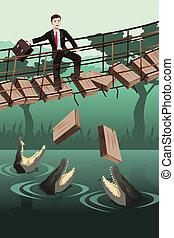 negócio, risco, conceito