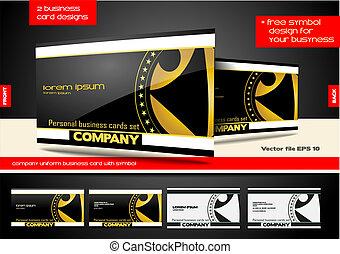 negócio, símbolo, companhia, cartão